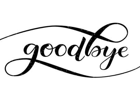 Goodbye lettering. Vector illustratio