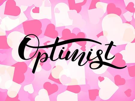 Optimist lettering for clothing or poster. Vector illustration Ilustrace