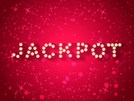 Vector illustration. Jackpot concept with light bulbs.
