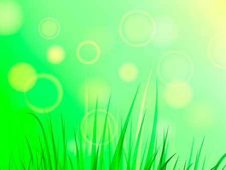 Summer or spring glade with green grass. Space for text. Vector illustration 向量圖像