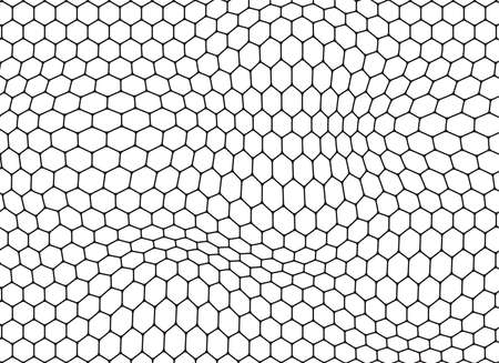 Honeycomb black background. Vector illustration.