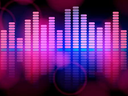 Music pink and blue equalizer. Dance with me lettering.  Vector illustration eps10. Ilustração