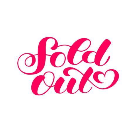 Sold Out brush lettering. Vector illustration for banner or poster Vector Illustration
