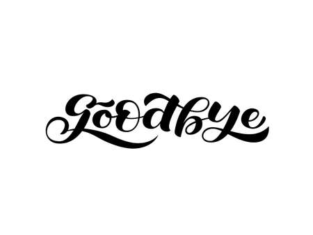 Goodbye lettering. Word for clothes, banner or postcard. Vector illustration Ilustracje wektorowe