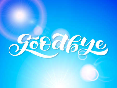Goodbye lettering. Word for clothes, banner or postcard. Vector illustration