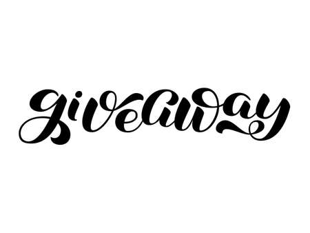 Giveaway brush lettering. Word for clothes, banner or postcard. Vector illustration Vectores
