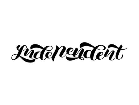 Independent. Vector illustration for clothes, banner or poster 일러스트