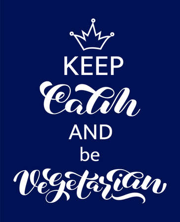 Keep Calm lettering. Word for banner or poster. Vector illustration