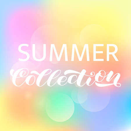 Summer collection brush lettering. Vector illustration for poster or card