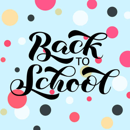 Back to school brush lettering. Vector illustration for card