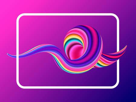 Liquid purple colorful background. Vector illustration  イラスト・ベクター素材
