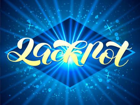 Vector illustration. Jackpot lettering for banner or card.