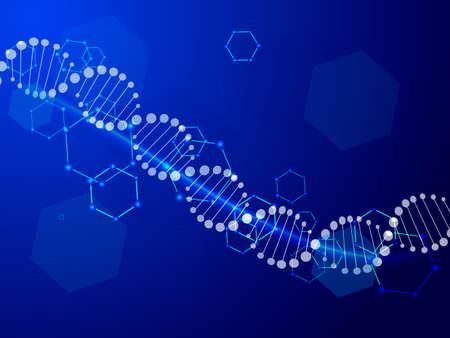 DNA abstract background. Vector illustration for poster Ilustração