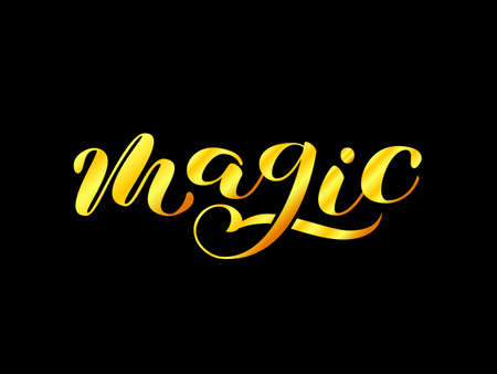 Magic brush lettering. Vector illustration for clothes  イラスト・ベクター素材