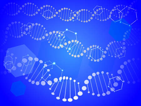 DNA abstract background. Vector illustration for poster Illustration