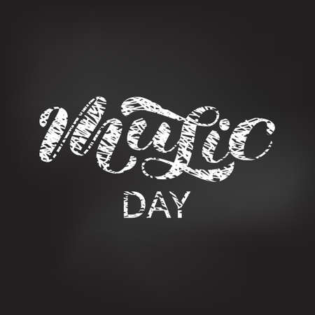Music day brush lettering. Vector illustration for clothing
