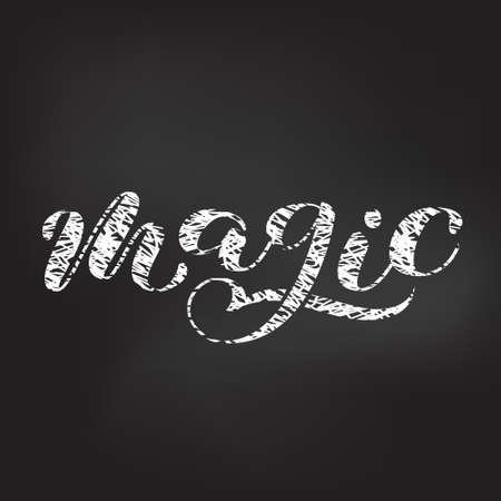 Magic  brush lettering. Vector illustration for clothes