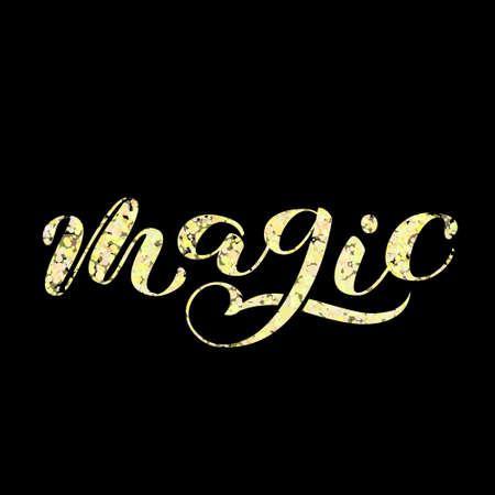 Magic brush lettering. Illusztráció