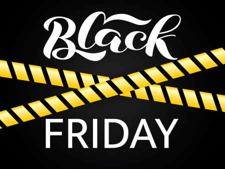 Black friday lettering.