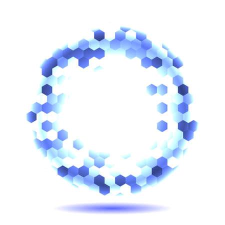 Honeycomb blue background. Vector illustration for card Reklamní fotografie - 131444624