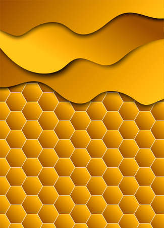 Honeycomb shiny  background. Vector illustration for card.