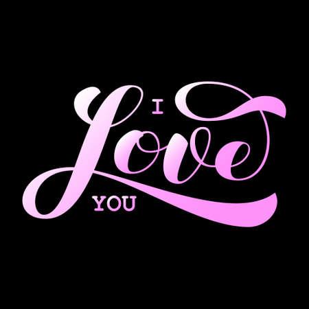 I love you lettering.