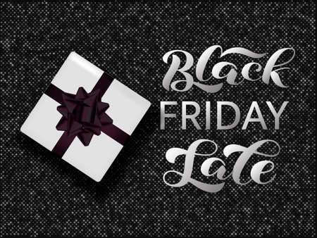 Black friday sale lettering. Quote for card or banner. Vector illustration