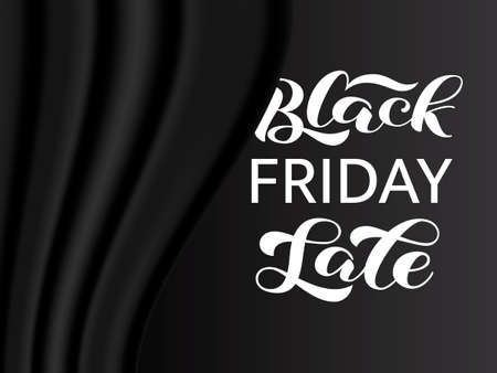 Black friday lettering. Quote for card. Vector illustration
