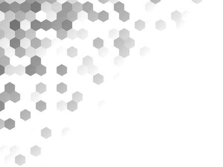 Honeycomb grey background. Vector illustration for card Reklamní fotografie - 131443300