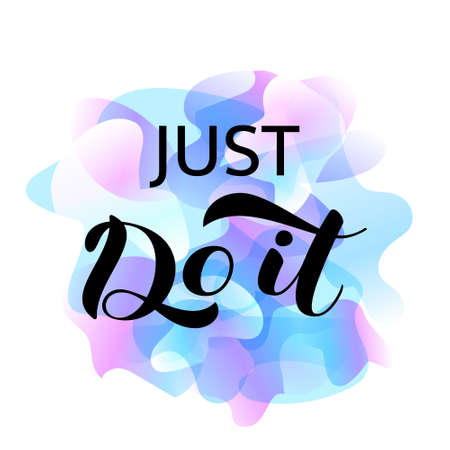 Just do it  lettering. Vector illustration for card or poster