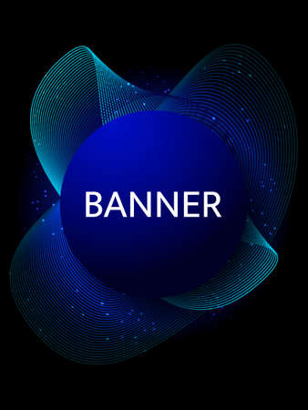 Abstract wavy blue background. Vector illustration for banner