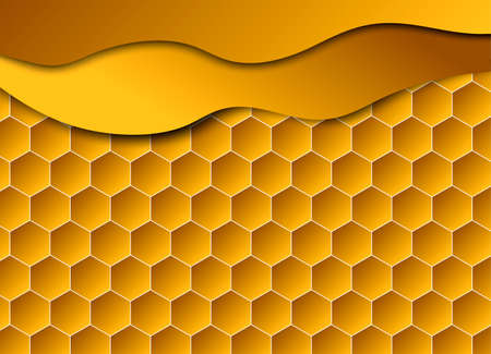 Honeycomb shiny  background. Vector illustration for card. Reklamní fotografie - 131445854
