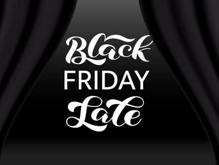 Black friday sale lettering. Quote for card. Vector illustration