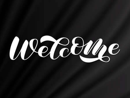 Welcome brush lettering. Stock fotó