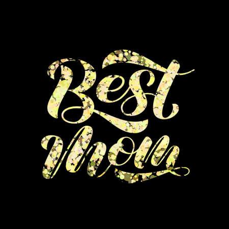 Best mom lettering. Stock fotó - 132198140