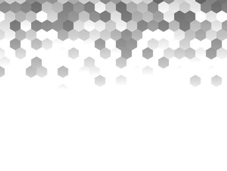 Honeycomb grey background. Vector illustration for card Reklamní fotografie - 131442261