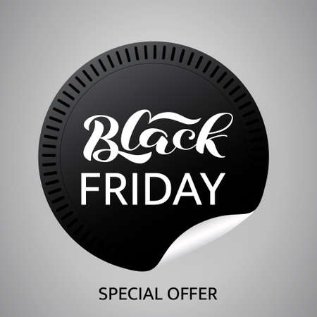 Black friday lettering. Quote for card or banner. Vector illustration