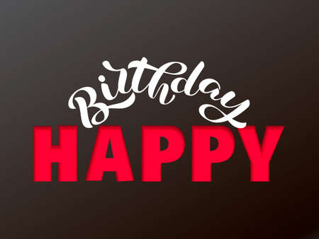 Happy birthday lettering.