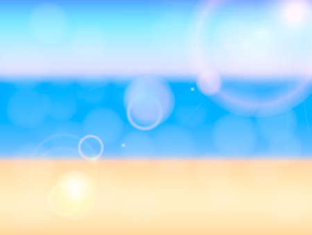 Blurred background with sea beach and sunny rays. Stock fotó - 132198401
