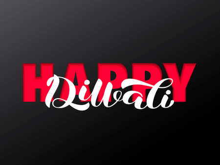 Happy Diwali lettering.