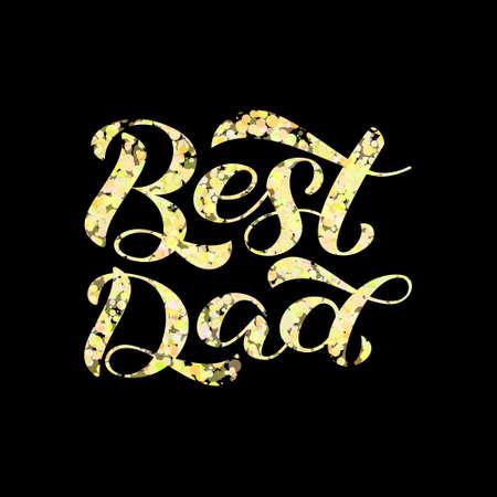 Best dad lettering. Stock fotó - 132199270