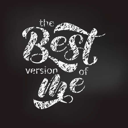 The best version of me  lettering. Stock fotó - 132199274