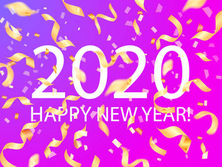 2020 date. Happy new year. Vector illustration for poster Illusztráció