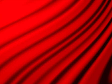 Vector illustration. Empty red closed curtains background for poster