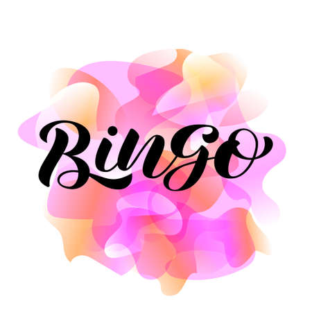 Vector illustration. Bingo lettering for banner or card. Stock fotó - 134533757