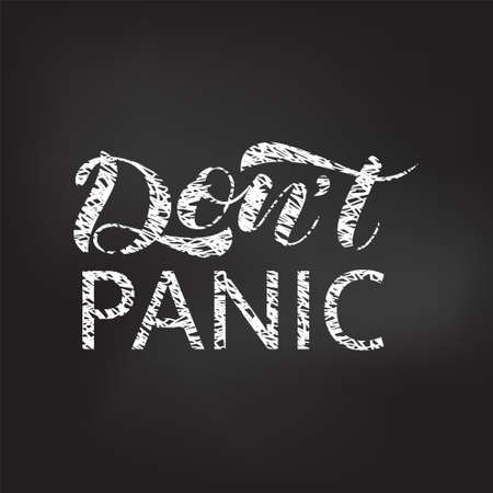 Don't panic  lettering. Vector illustration for card or poster Stock fotó - 134533759