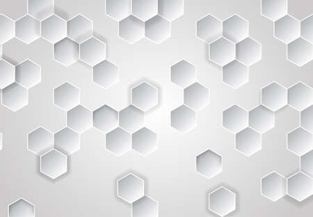 Honeycomb grey background. Vector illustration for card or poster