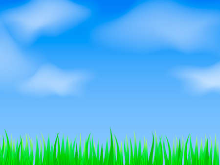 Green grass background. Vector stock illustration for poster or banner