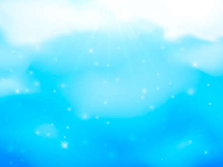 Blue sky with clouds. Vector Illustration for poster or banner