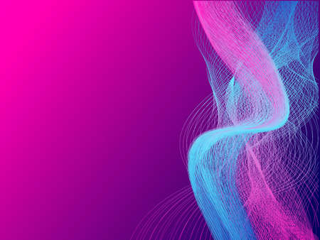 Blue and pink neon abstract molecular connection. Vector illustration for poster Ilustrace